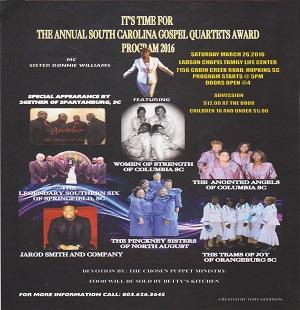 Annual SC Gospel Quartets Award