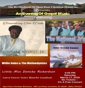 Open Door Christian Ministries Brotherhood Concert